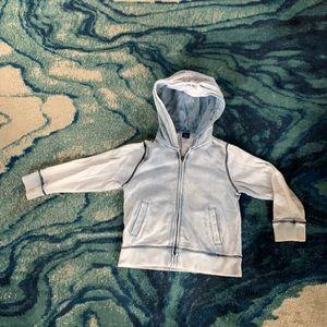 BabyGap Distressed Hooded Sweatshirt Boys 5T, Blue